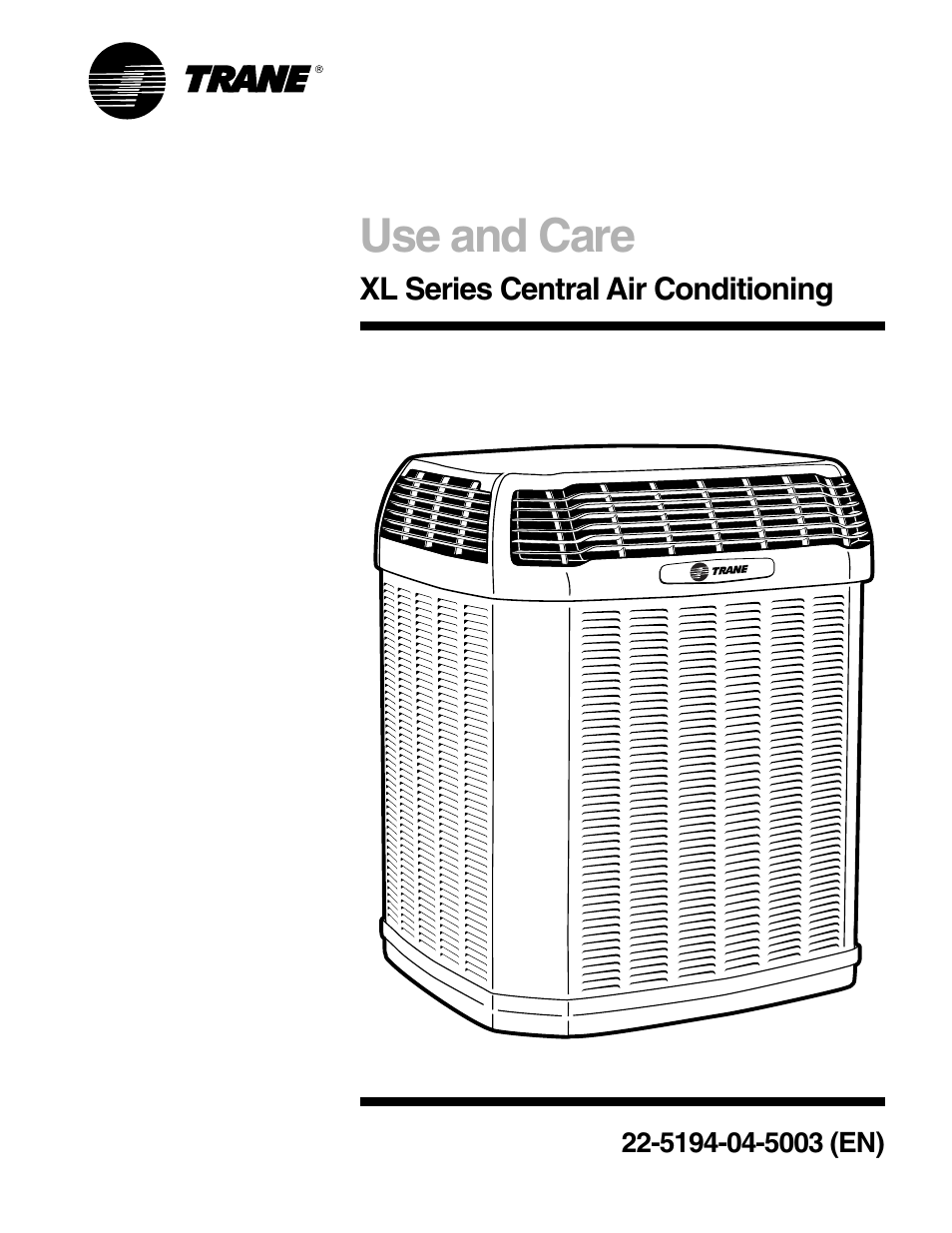 Trane 4ttx4 User Manual 6 Pages Also For 4ttx3 2ttx4