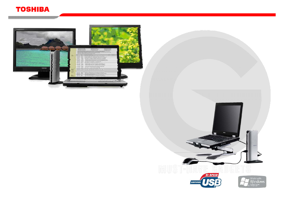 Toshiba Dynadock Universal USB Docking Station pdf manual