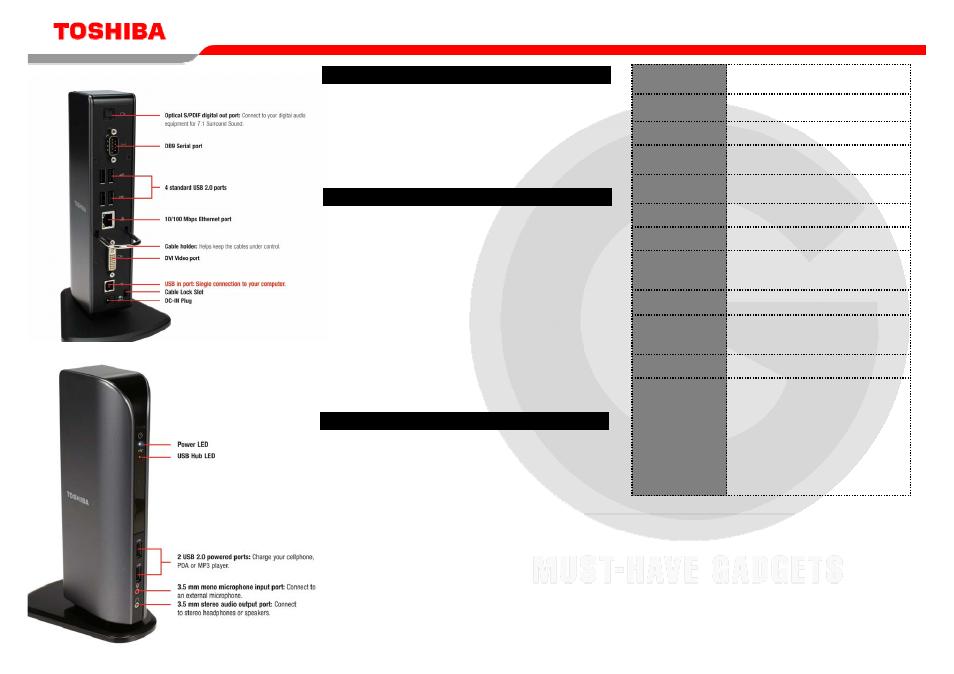 Toshiba Dynadock Universal USB Docking Station pdf manual [Page 4/5]