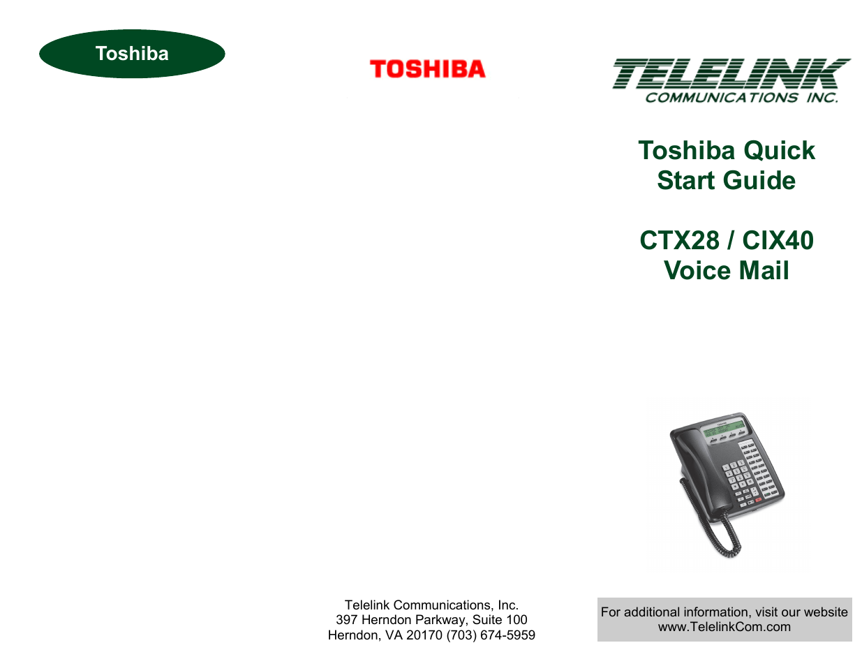toshiba cix40 user manual 2 pages also for ctx28 rh manualsdir com Toshiba Strata Phone System Toshiba Strata Phone System