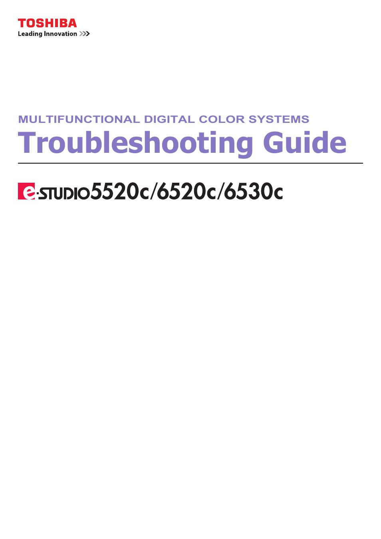 Toshiba e-studio 5520C User Manual | 114 pages | Also for: e-studio 6520c,  e-studio 6530c