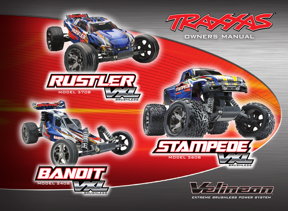 traxxas rustler 3608 user manual 28 pages also for rustler 2408 rh manualsdir com Traxxas Slayer traxxas bandit vxl owners manual