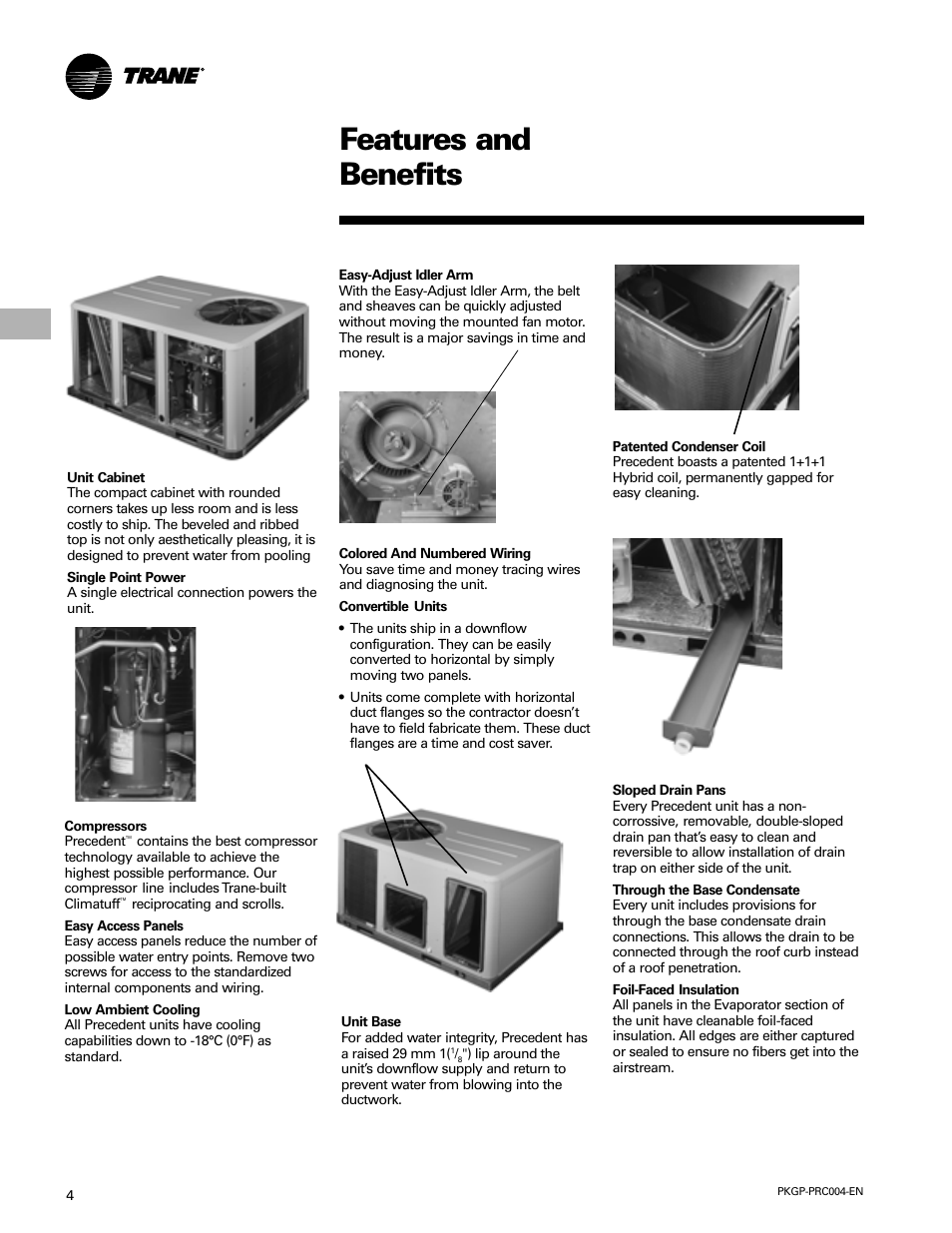 Features and benefits | Trane WSC060-120 User Manual | Page 4 / 52