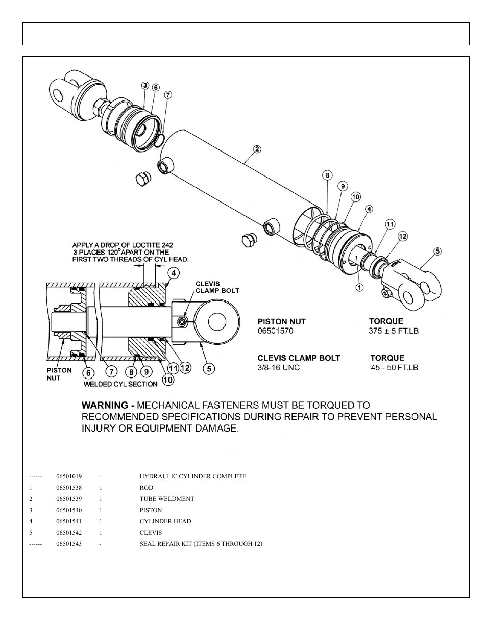 4in x 9in welded cylinder breakdown   Tiger Products Co