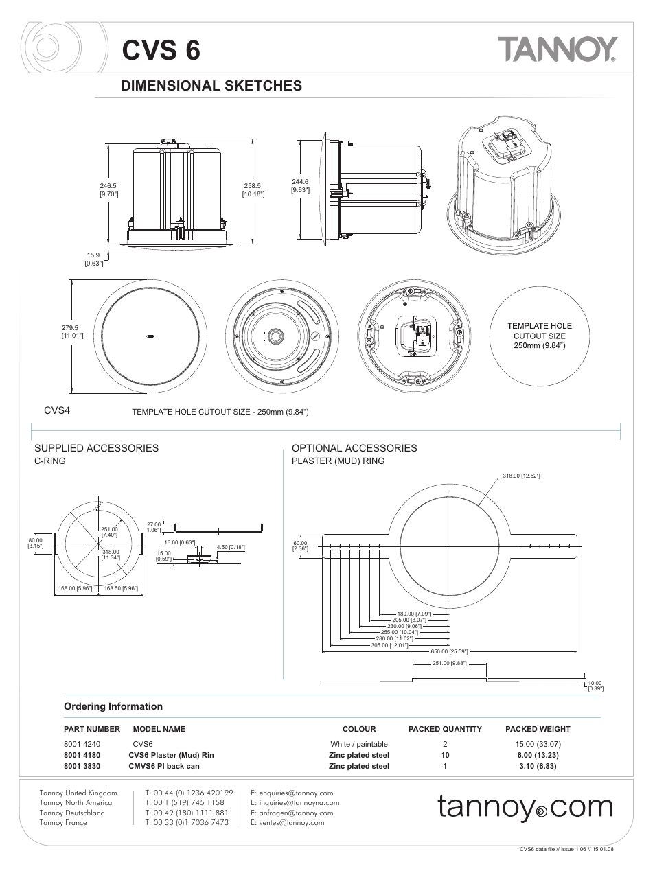 cvs 6 dimensional sketches cvs4 tannoy cvs6 user manual page 6 rh manualsdir com