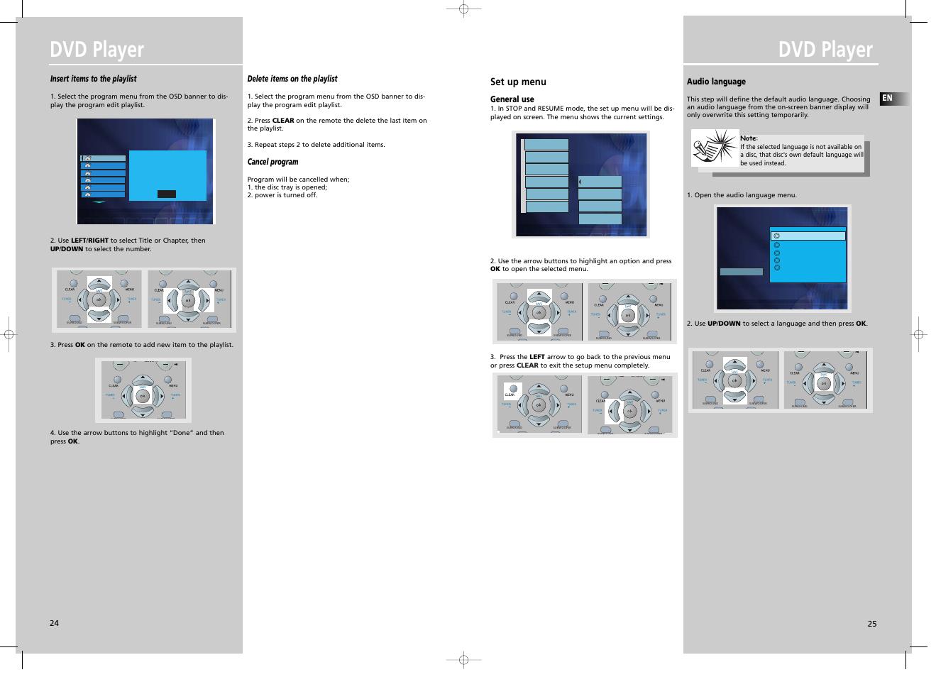 dvd player set up menu insert items to the playlist technicolor rh manualsdir com JVC Instruction Manuals DVD User Manuals