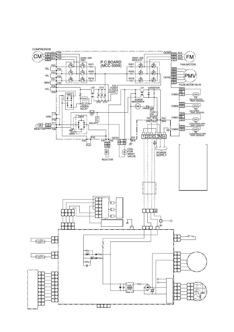 Wiring       diagram     1 outdoor unit  2 indoor unit   Toshiba