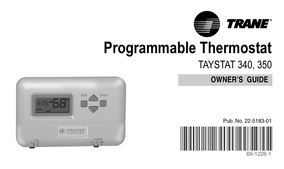 Trane Thermostat Wiring Diagram Taystat 340: Trane 350 User Manual   24 pages   Also for  340,