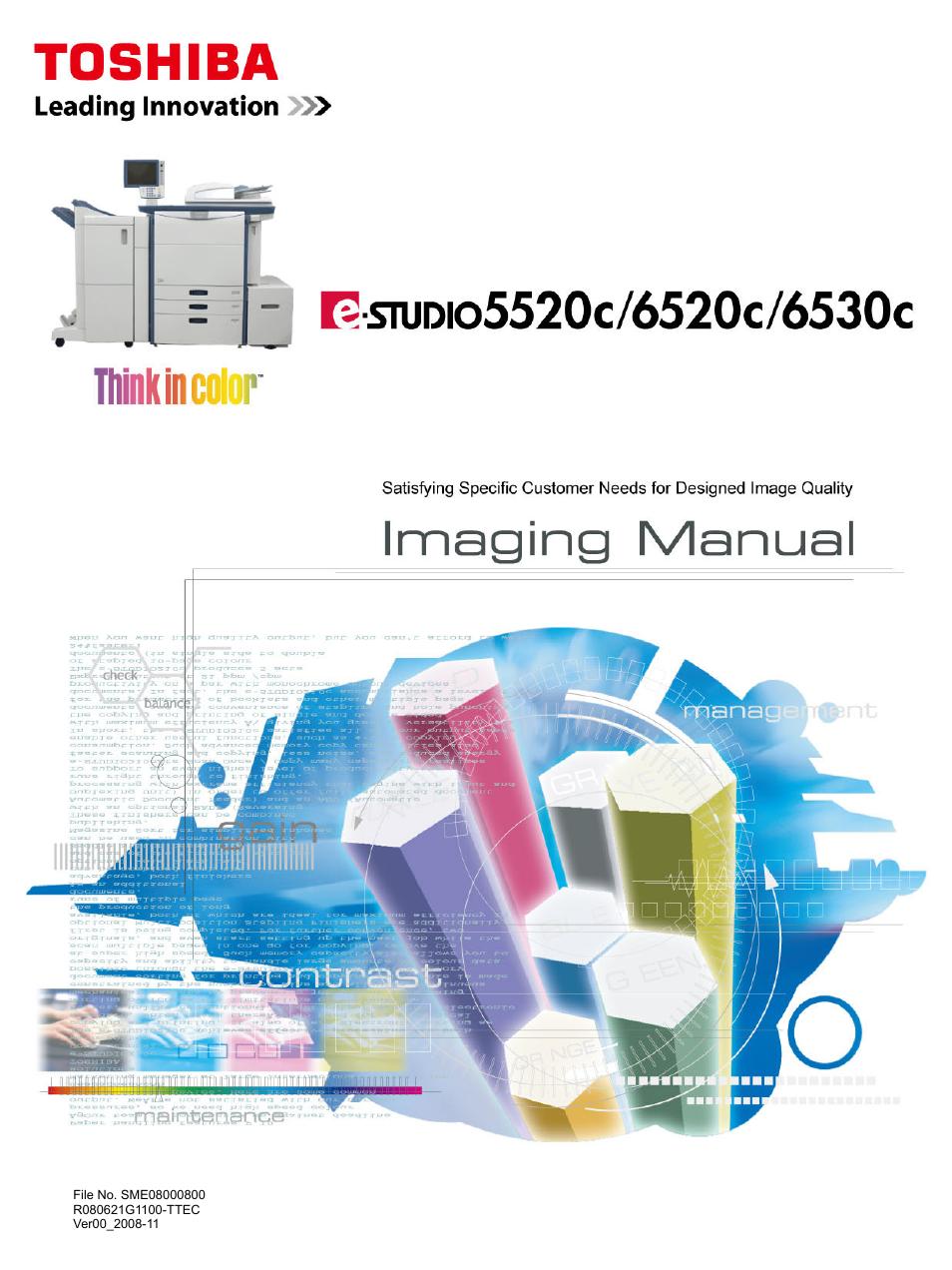 Toshiba e-Studio Imaging 6520c User Manual | 288 pages | Also for: e-Studio  Imaging 6530c, e-Studio Imaging 5520c