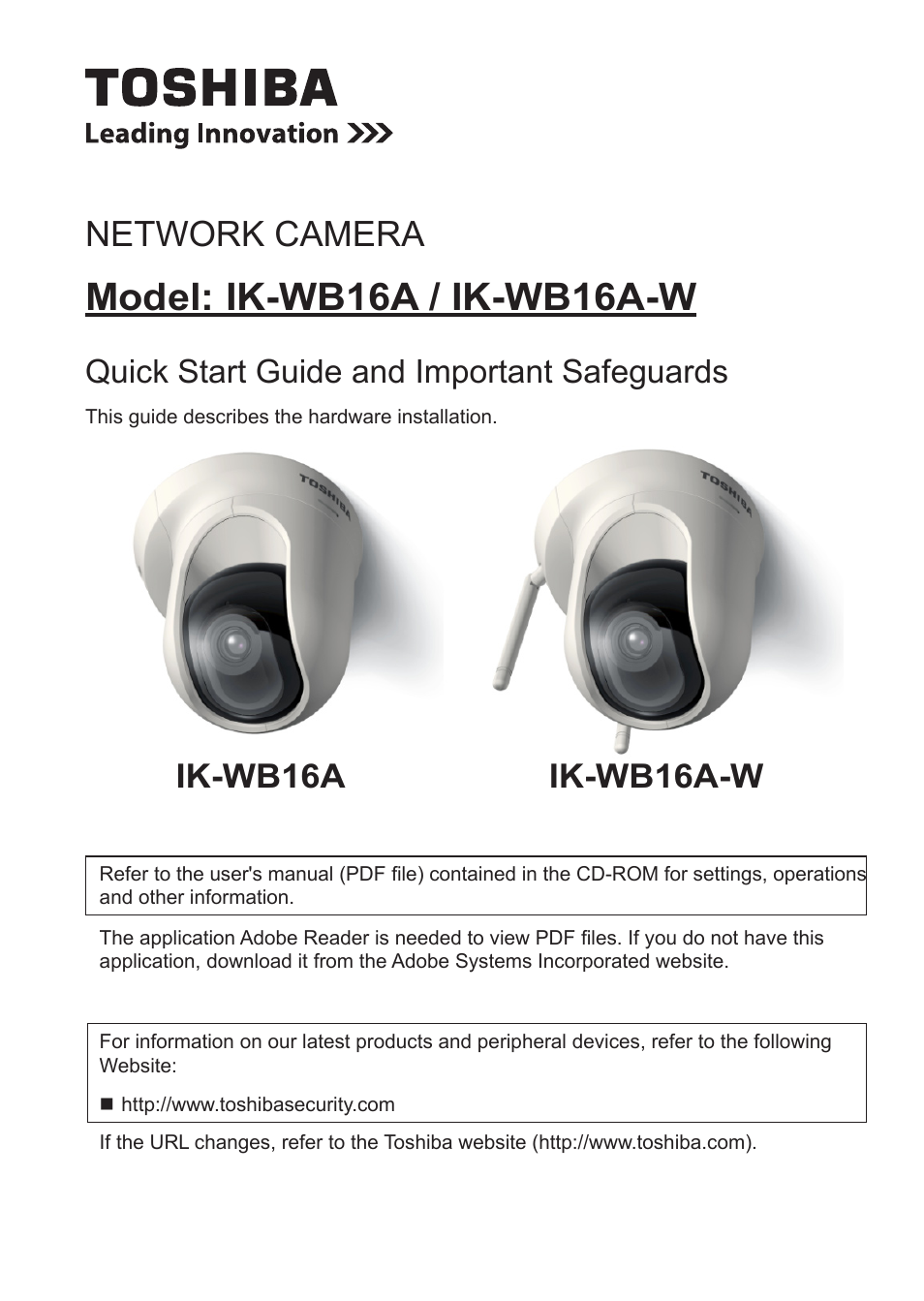 toshiba ik wb16a w user manual 24 pages also for ik wb16a rh manualsdir com Wireless Network Camera Toshiba CCD Color Camera