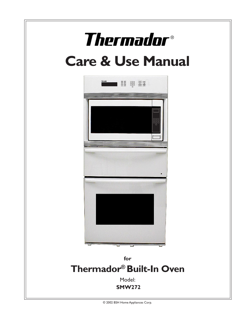 Thermador Smw272 User Manual 64 Pages