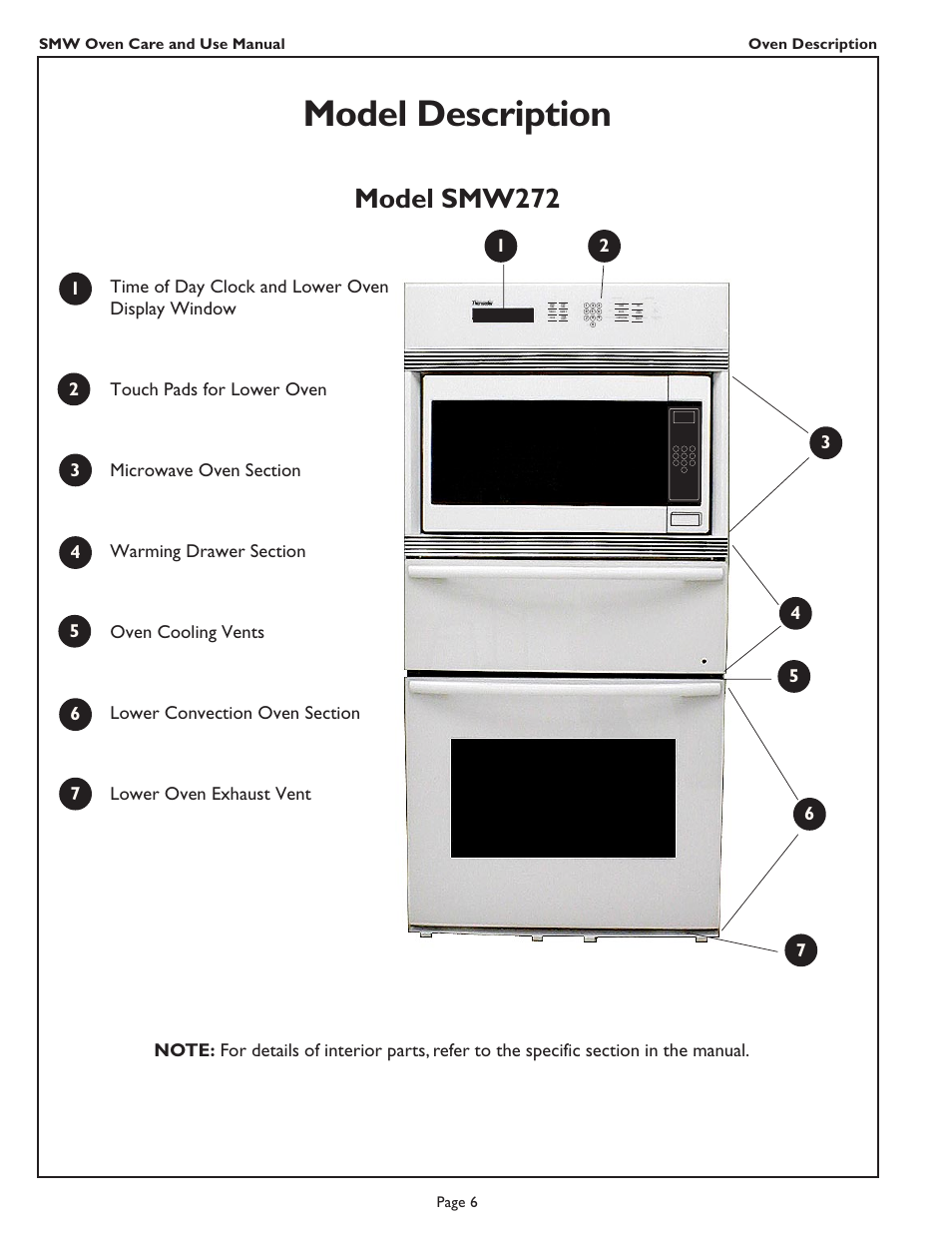 Thermador Oven Smw272 User Guide Manual Guide