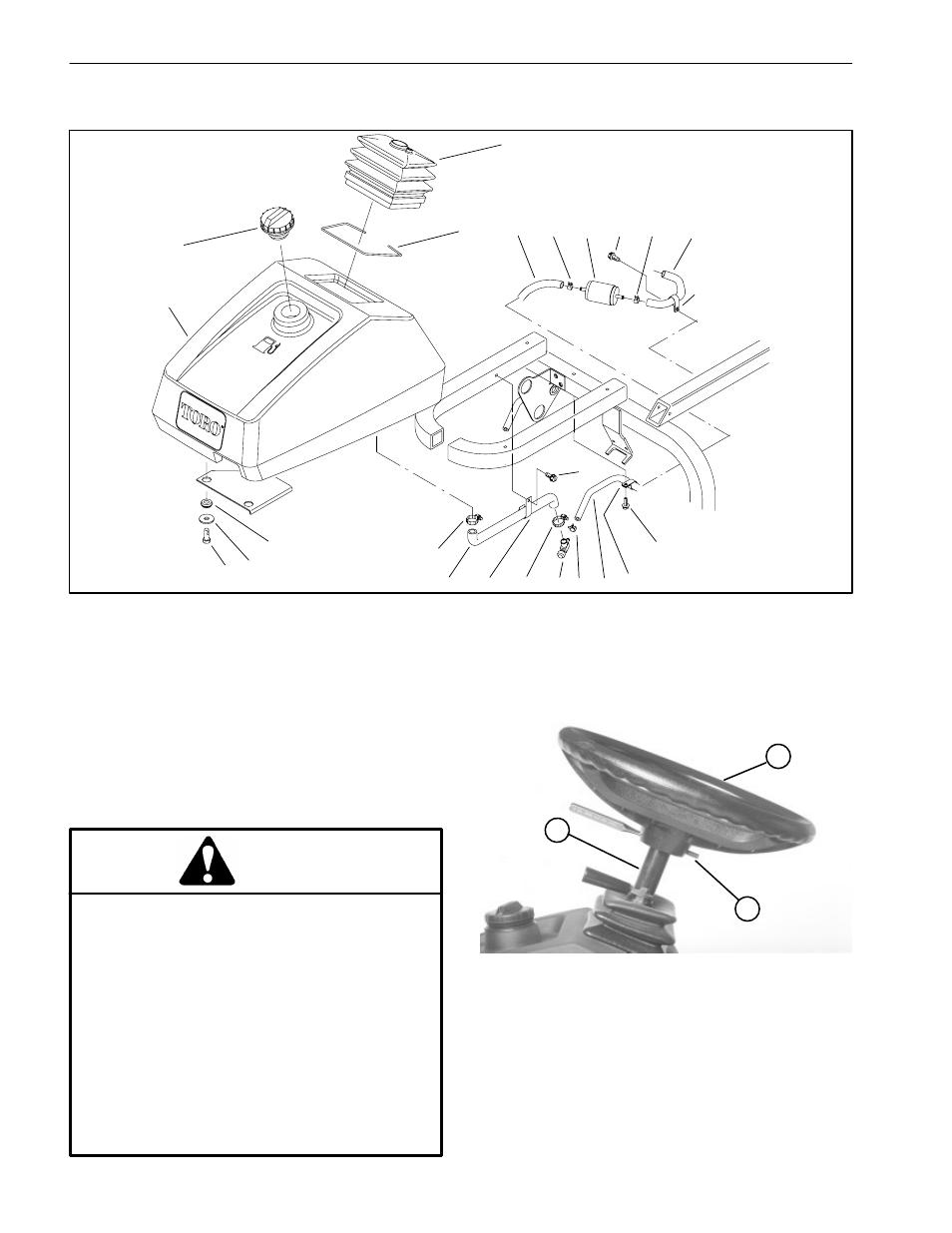 Fuel Tank Sp 5020 Danger Toro Sand Pro User Manual Page Grommet 3 1 Engine Diagram 40 170