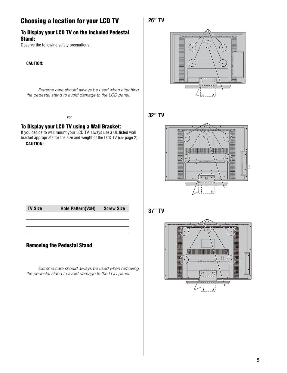 choosing a location for your lcd tv toshiba 37av52u user manual rh manualsdir com instruction manual toshiba tv instruction manual toshiba e studio 5508a