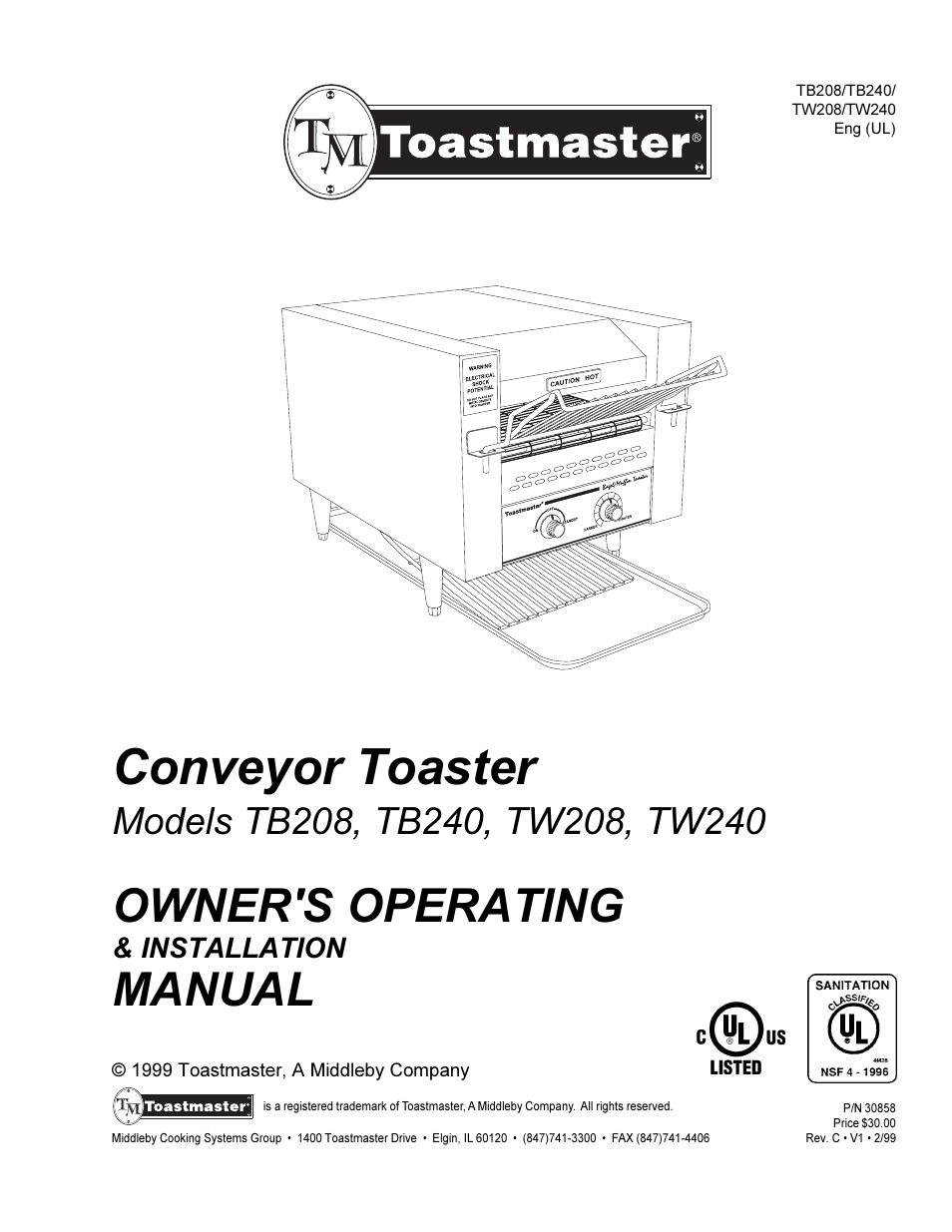 ... Array - toastmaster tw240 user manual 12 pages also for tb208 tb240  tw208 rh manualsdir ...