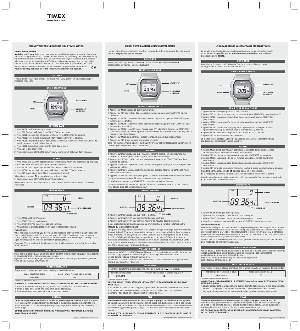 timex 555 095000 user manual 2 pages also for t78677 rh manualsdir com timex manuals t236 timex manuals online