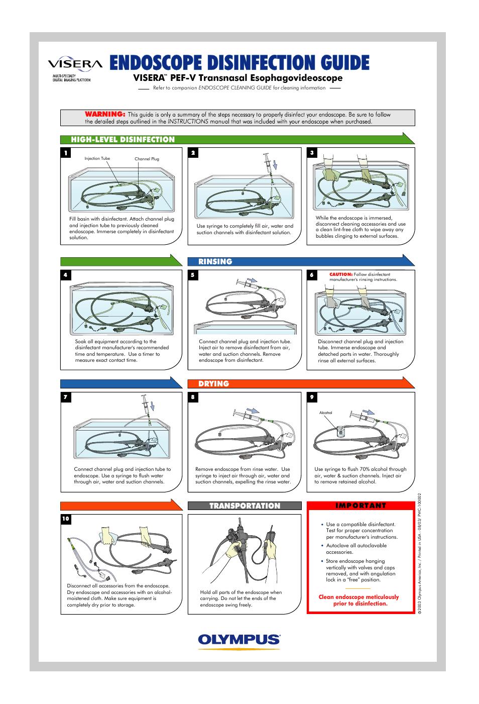 olympus pef v user manual 1 page rh manualsdir com olympus endoscope user manual olympus endoscope reprocessing manual