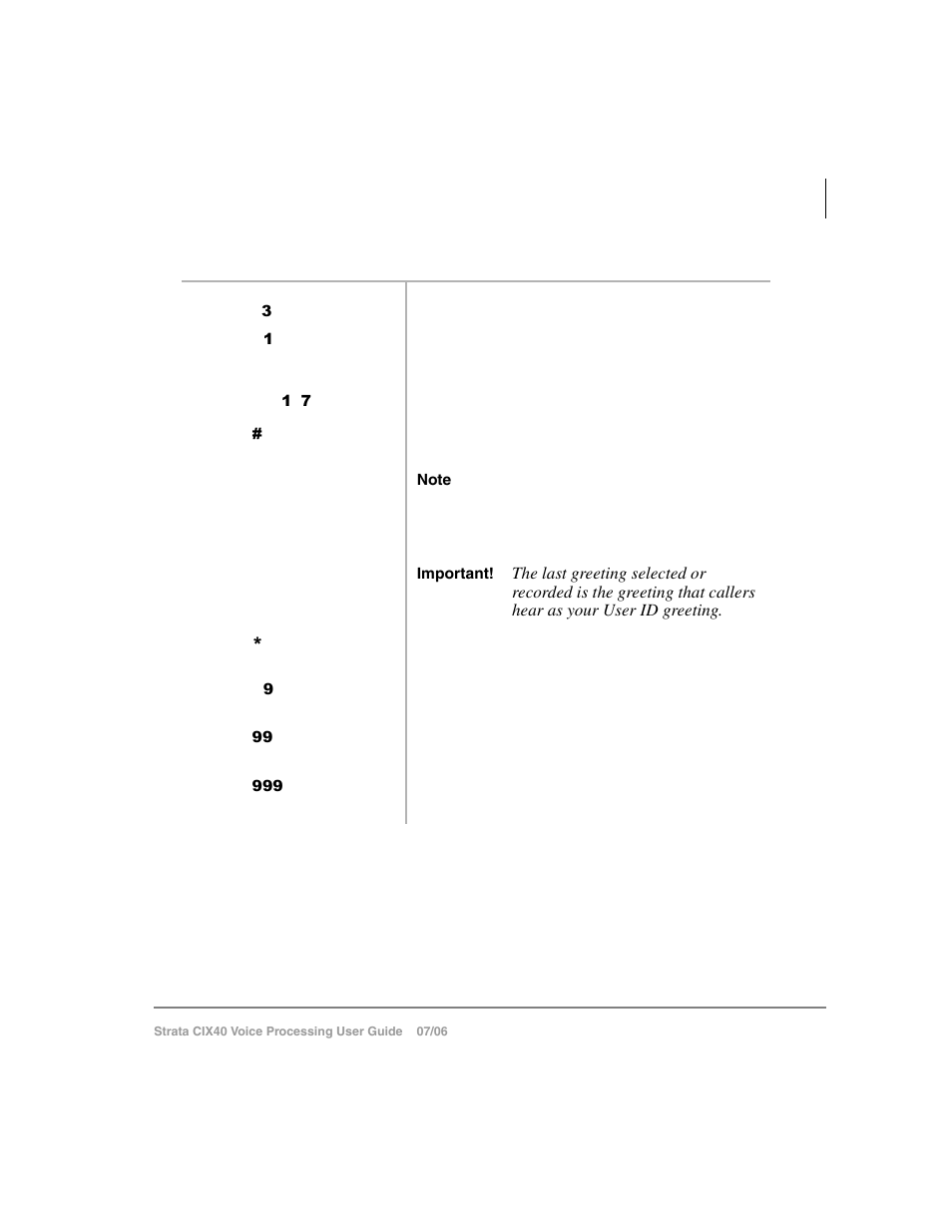 Change your greeting selection | Toshiba Strata CIX40 User Manual | Page 61  / 96