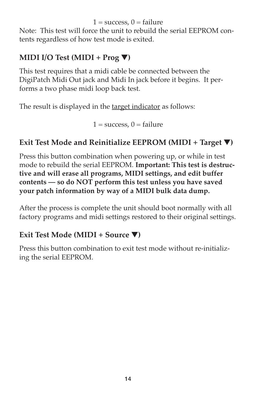 M-AUDIO DigiPatch User Manual | Page 14 / 20 | Original mode