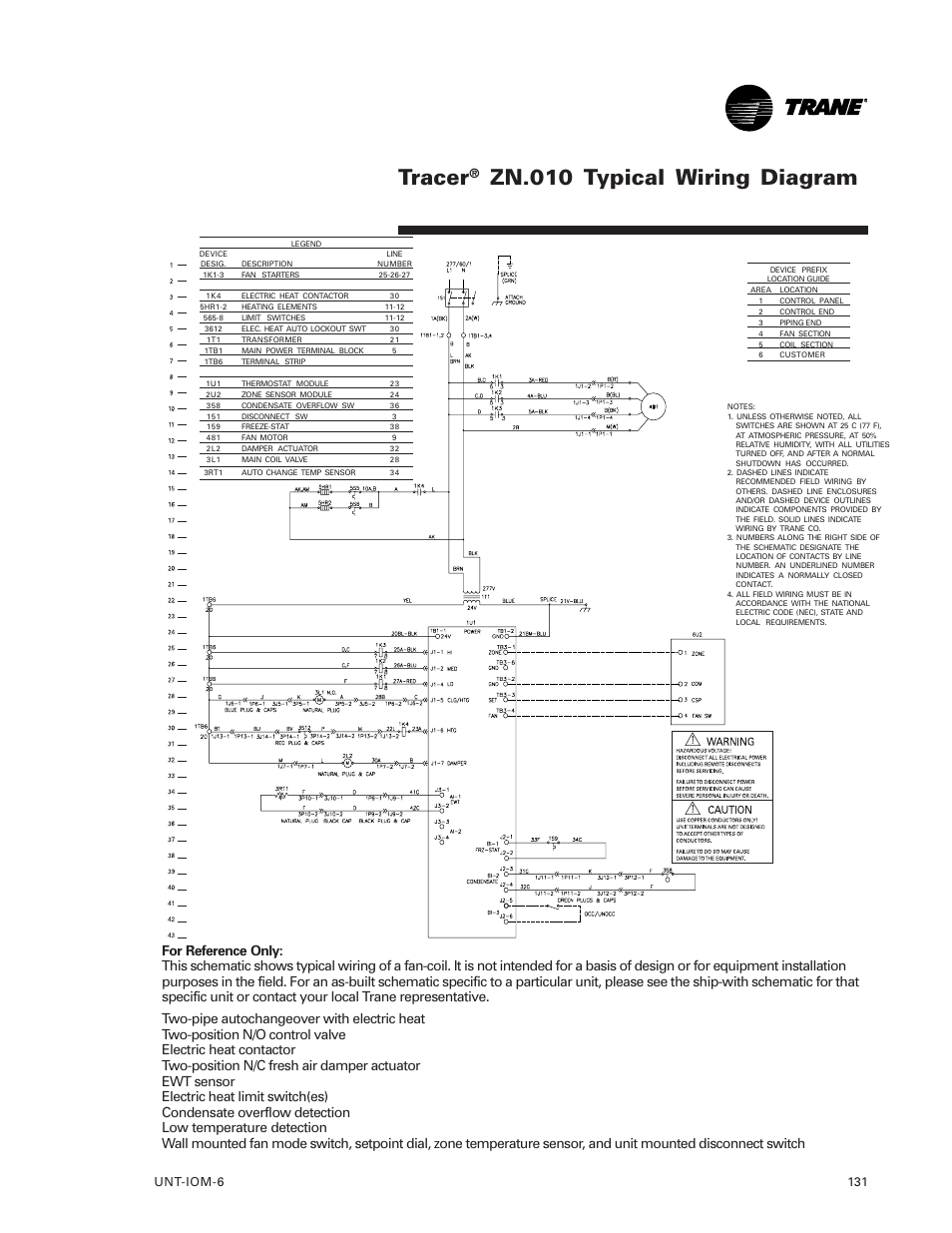 Tracer  Zn 010 Typical Wiring Diagram  Unt