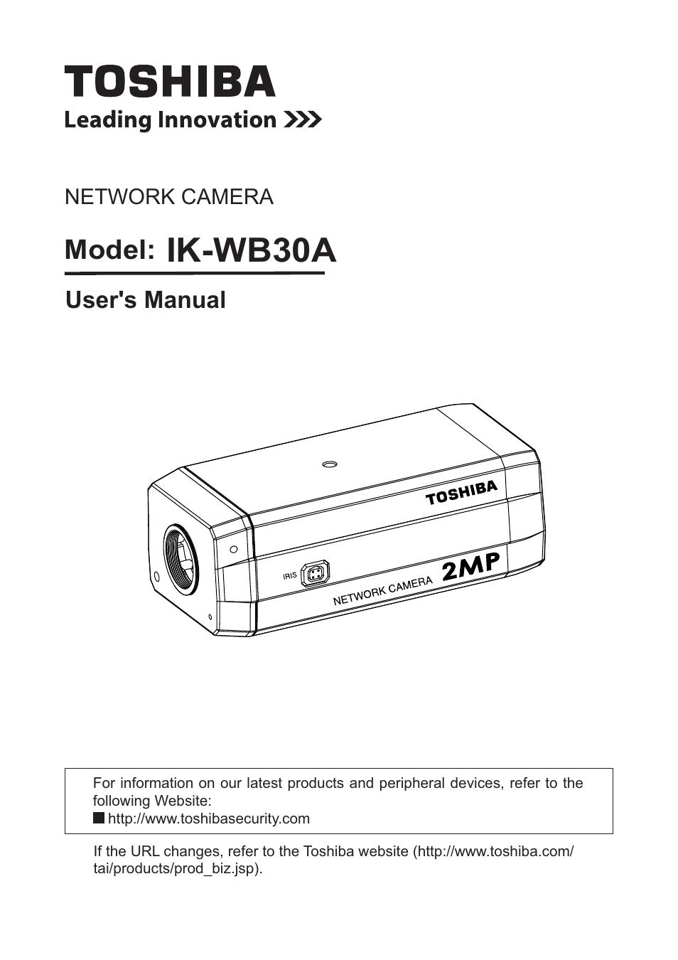 toshiba ik wb30a user manual 121 pages rh manualsdir com Toshiba CCD Color Camera Toshiba CCTV Camera