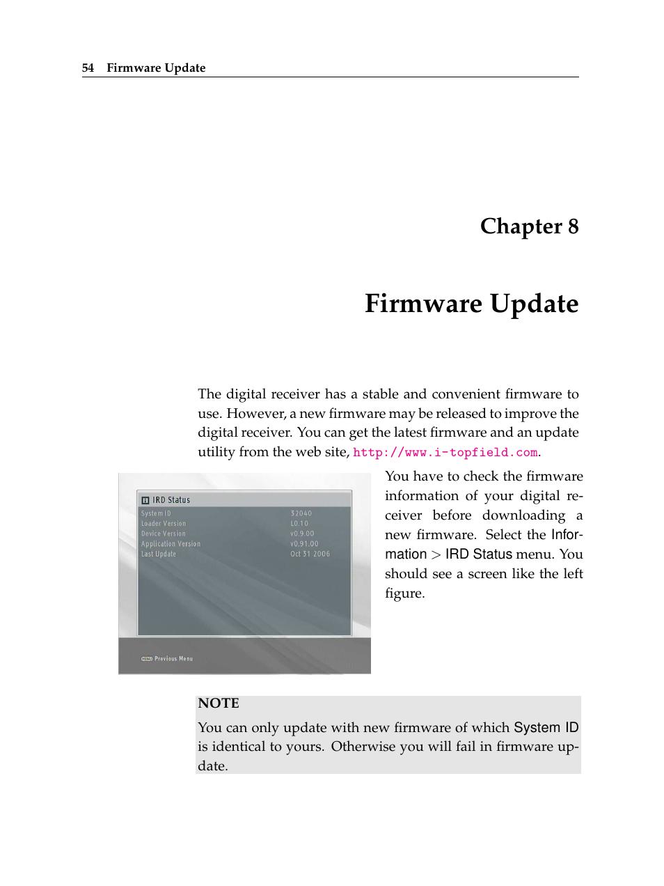 Toppy firmware updates.