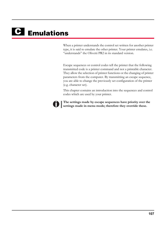 emulations escape sequences deals with tally genicom 5040 user rh manualsdir com Pr2 Plus olivetti pr2 plus user guide