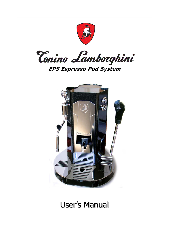 tonino lamborghini espresso maker user manual 30 pages rh manualsdir com Manual Espresso Press Best Manual Lever Espresso Machine