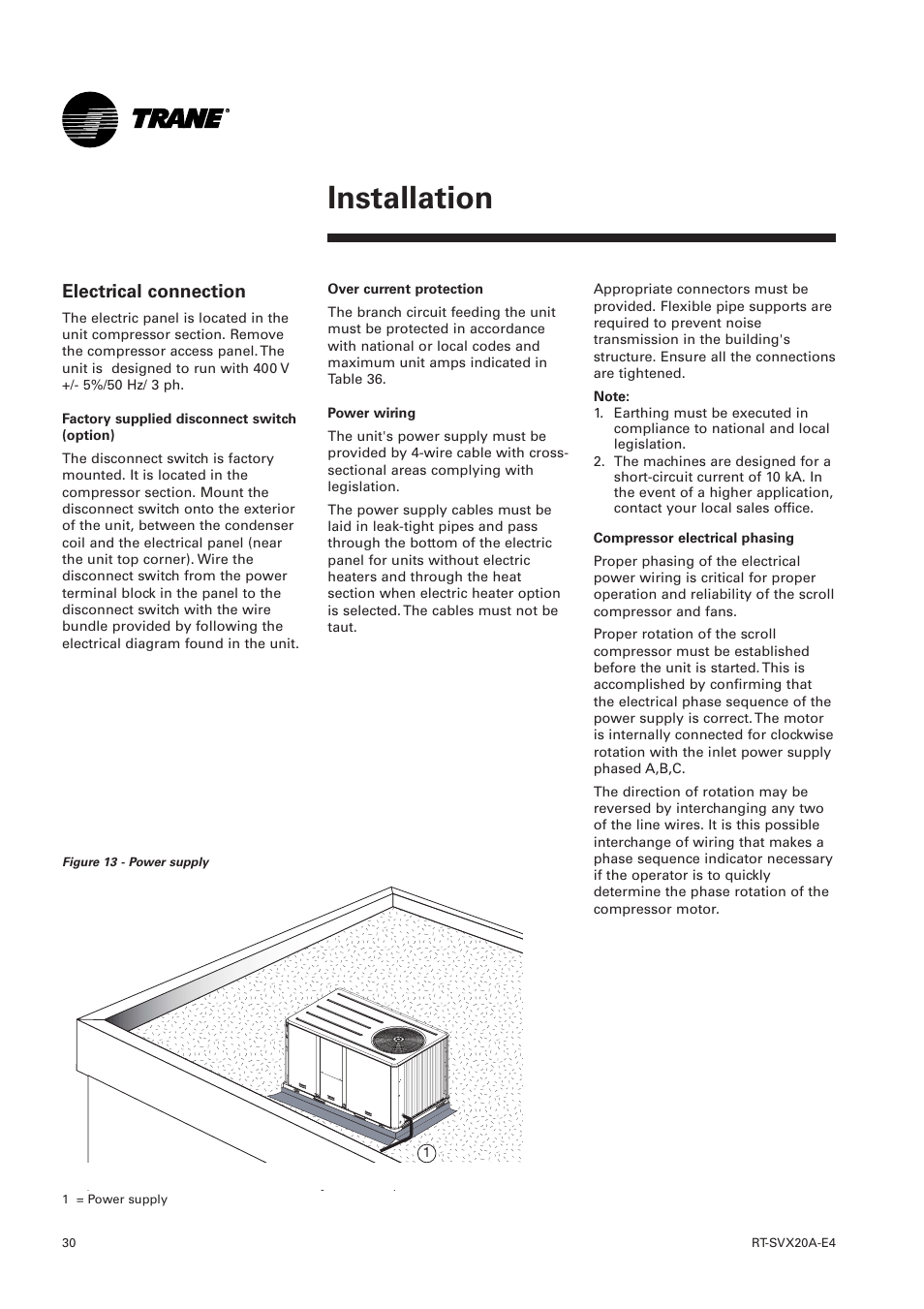 Electrical Connection  Installation