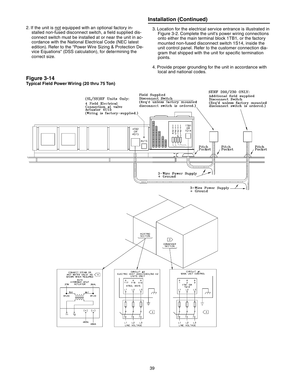 Trane Intellipak Commercial Single Zone Rooftop Air Switch Wiring Diagram Fld Conditioners With Cv Or Vav Control User Manual Page 40 118