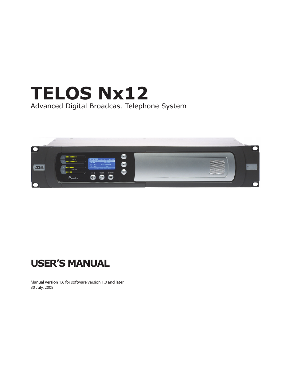 telos nx12 user manual 133 pages rh manualsdir com nx 12 user manual siemens nx 12 manual pdf