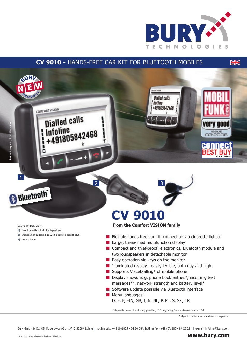 THB Bury CV 9010 User Manual