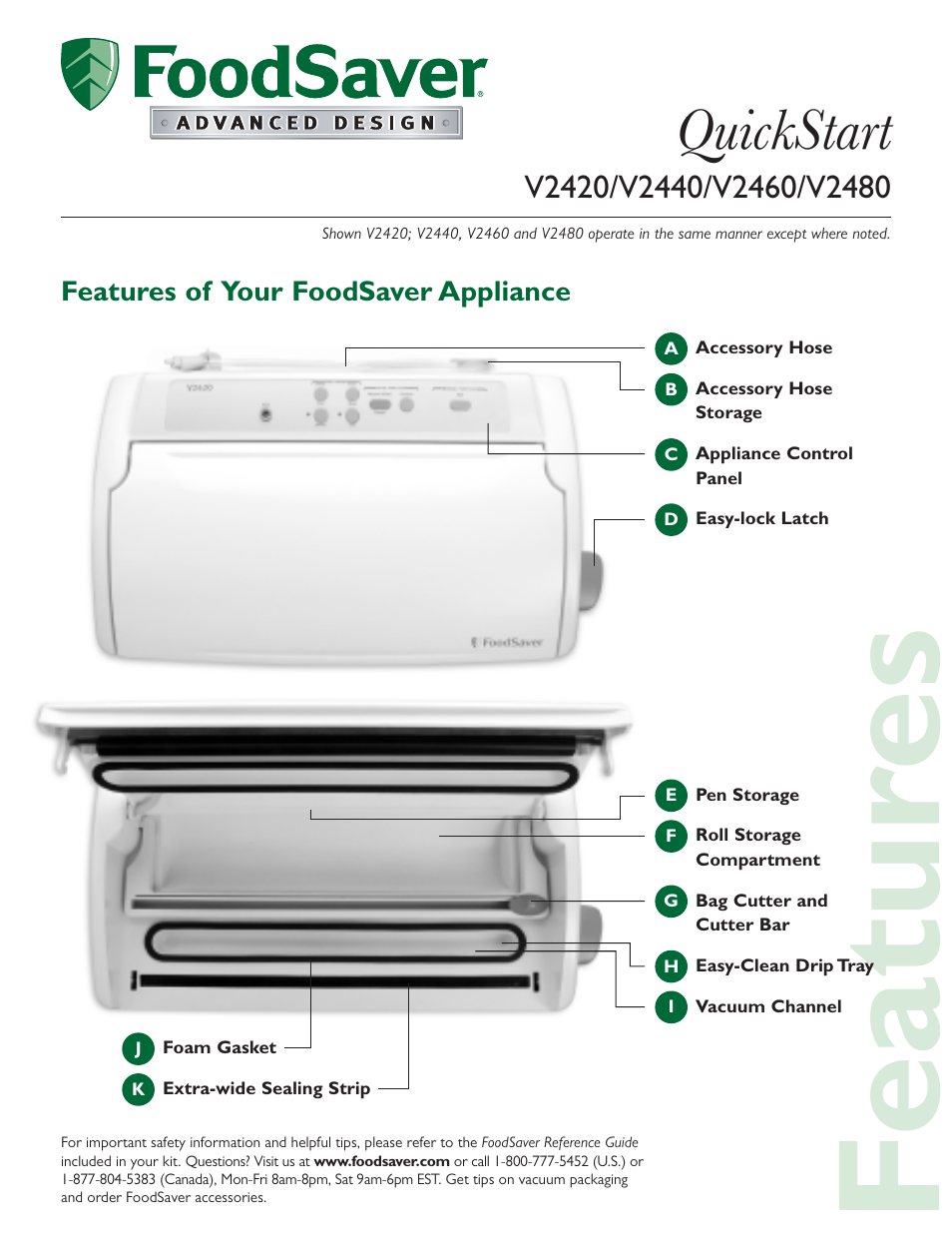 foodsaver v2440 user manual 6 pages also for v2460 v2480 v2420 rh manualsdir com