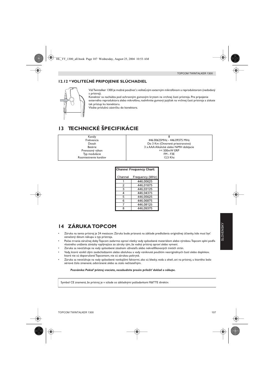 13 technick pecifik cie 14 z ruka topcom topcom twintalker 1300 rh manualsdir com topcom user manual topcom butler e700 user manual