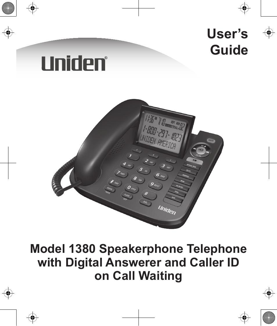 uniden 1380 user manual 44 pages rh manualsdir com uniden digital phone user manual uniden phone 6.0 user manual