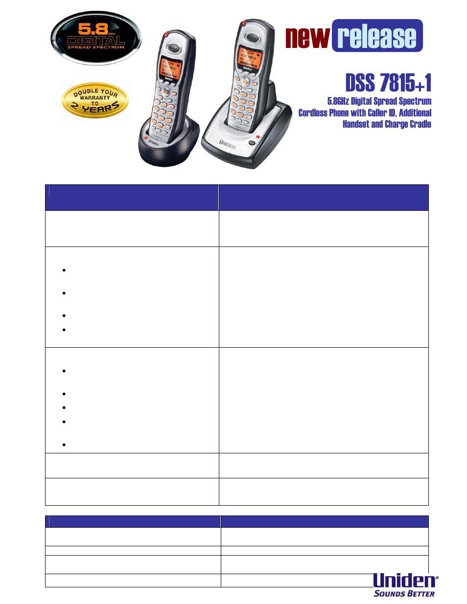 Uniden Dss 7815 1 User Manual