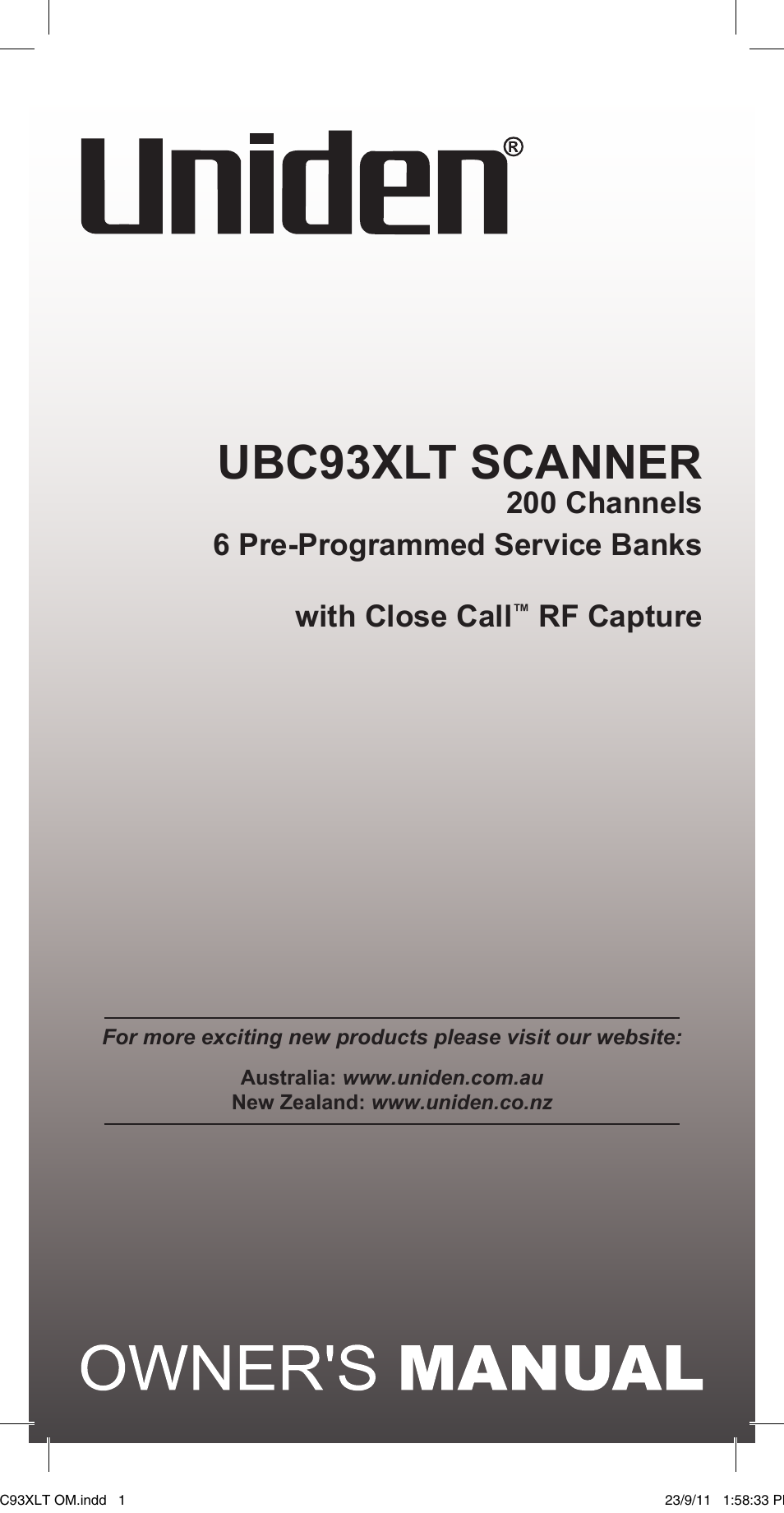 uniden ubc93xlt user manual 60 pages rh manualsdir com