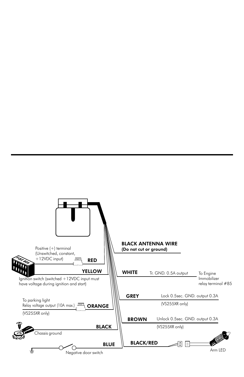 Installation manual, Vs235xr comes with 6-wires only, Trouble shooting |  Connection diagram