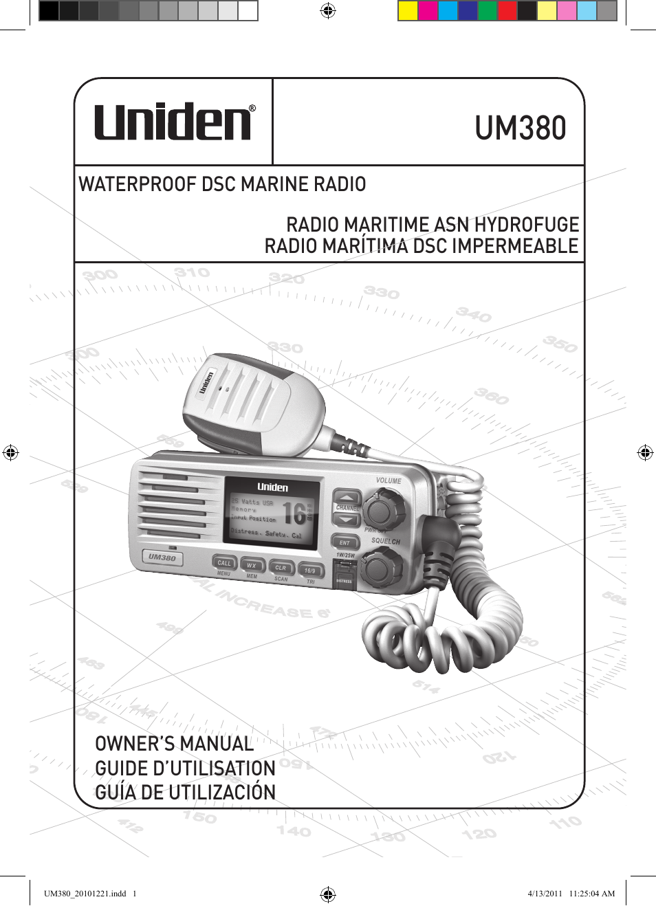 uniden waterproof dsc marine radio um380 user manual 56 pages rh manualsdir com uniden mc535 marine radio manual uniden mc535 marine radio manual
