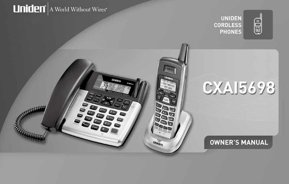 uniden cxa 15698 user manual 72 pages rh manualsdir com uniden 900 mhz answering machine manual uniden instruction manual answering machine