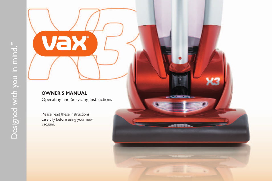 Vax X3 User Manual | 46 pages