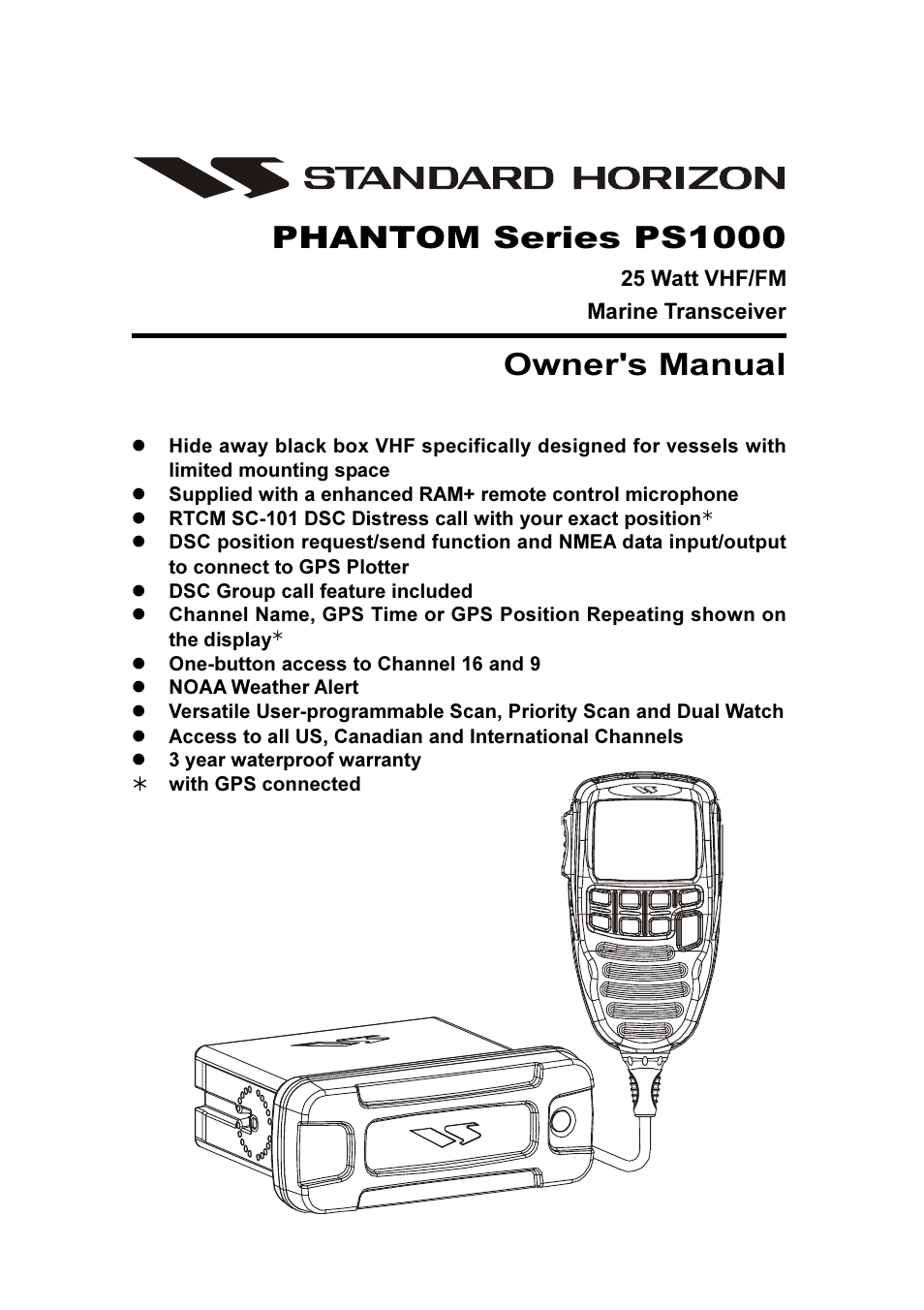 Vertex Standard PS1000 User Manual | 68 pages
