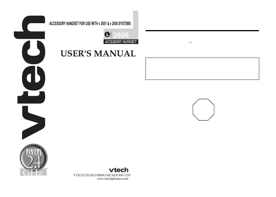 vtech 2600 user manual 11 pages rh manualsdir com DD 2656 10 DD 2656 10