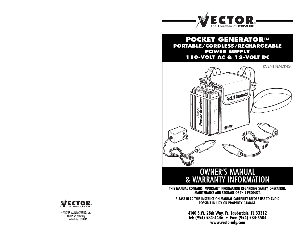 Vector pocket generator vec018 user manual 8 pages publicscrutiny Image collections
