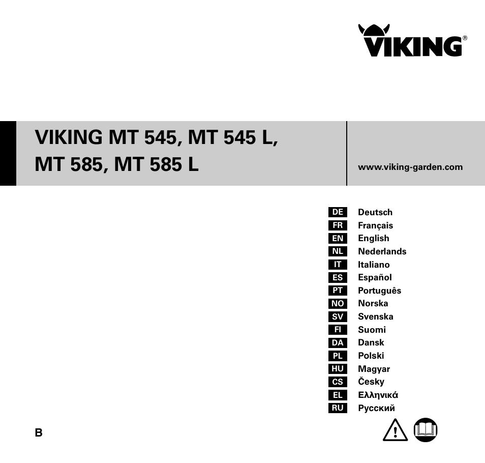 viking mt 545 mt 545l mt 585 mt 585l user manual 36 pages. Black Bedroom Furniture Sets. Home Design Ideas