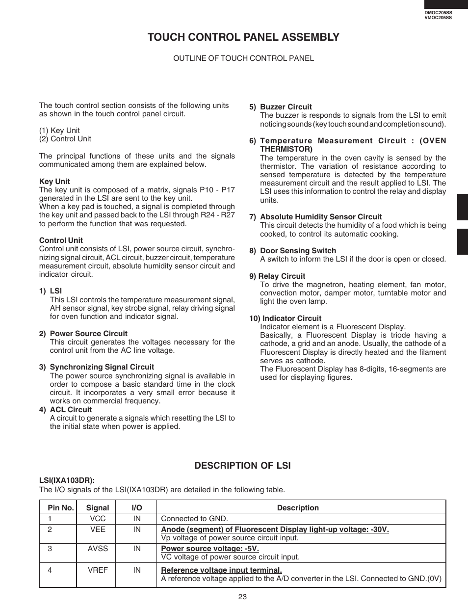 Touch Control Panel Assembly Viking Dmoc205ss User Manual Page Basic Relay Driver Circuit 25 48