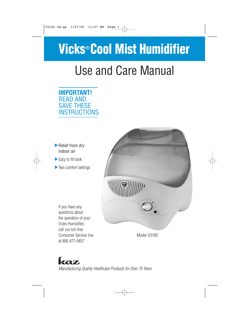 Cool Mist Cool Mist Humidifier Lowes Manual Guide