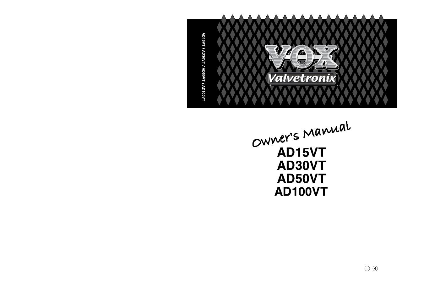 vox valvetronix ad50vt user manual 36 pages also for valvetronix ad15vt valvetronix ad30vt. Black Bedroom Furniture Sets. Home Design Ideas