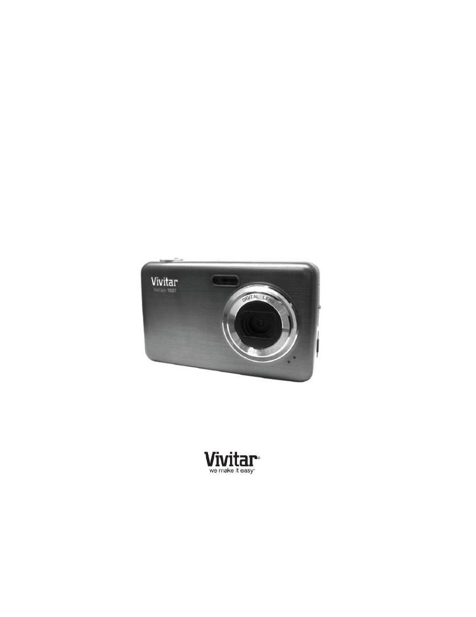 vivitar vivicam t027 user manual 55 pages rh manualsdir com Instruction Manual Book vivitar t027 instruction manual