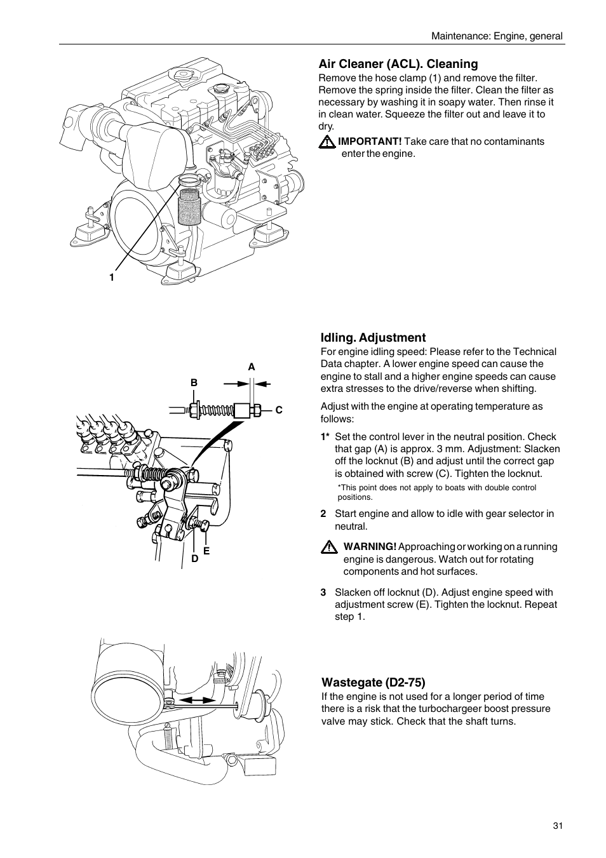 volvo penta d2 75 user manual page 33 68 also for. Black Bedroom Furniture Sets. Home Design Ideas